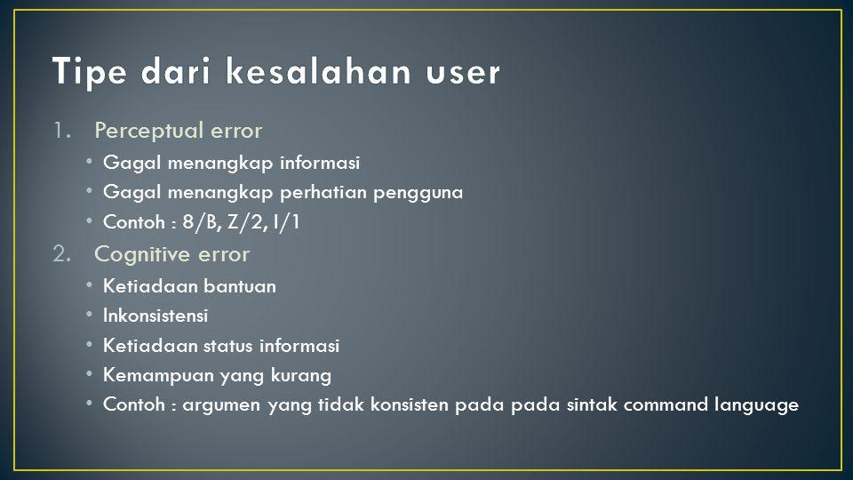 Tipe dari kesalahan user