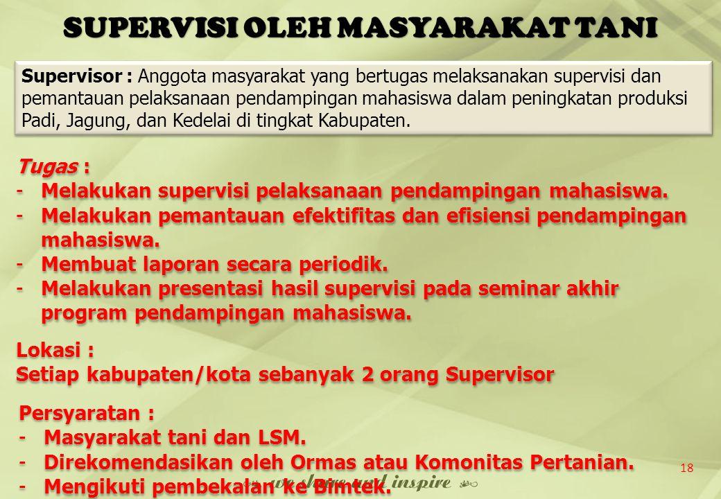 SUPERVISI OLEH MASYARAKAT TANI
