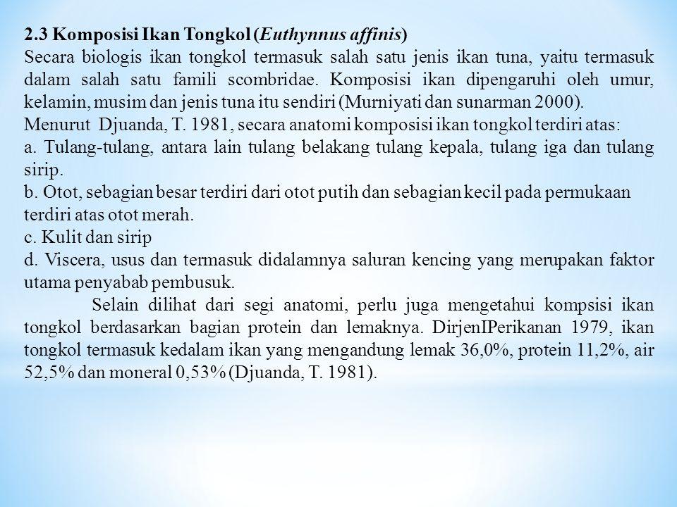 2.3 Komposisi Ikan Tongkol (Euthynnus affinis)