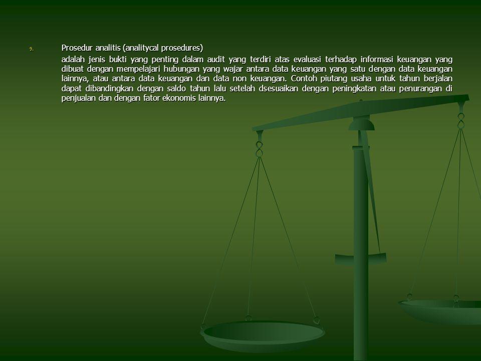 Prosedur analitis (analitycal prosedures)