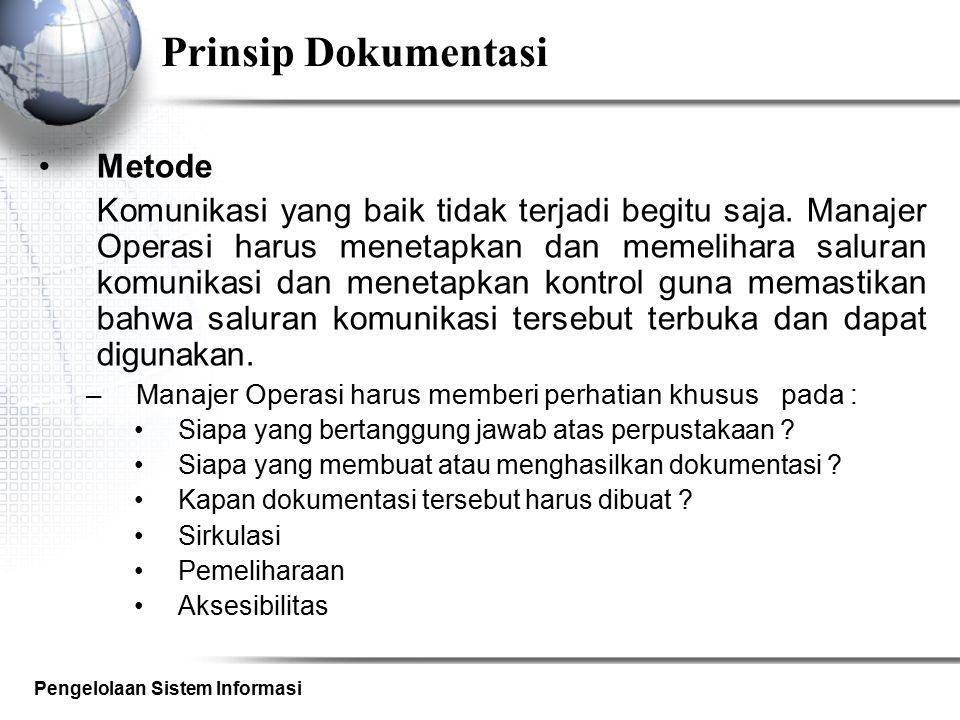 Prinsip Dokumentasi Metode