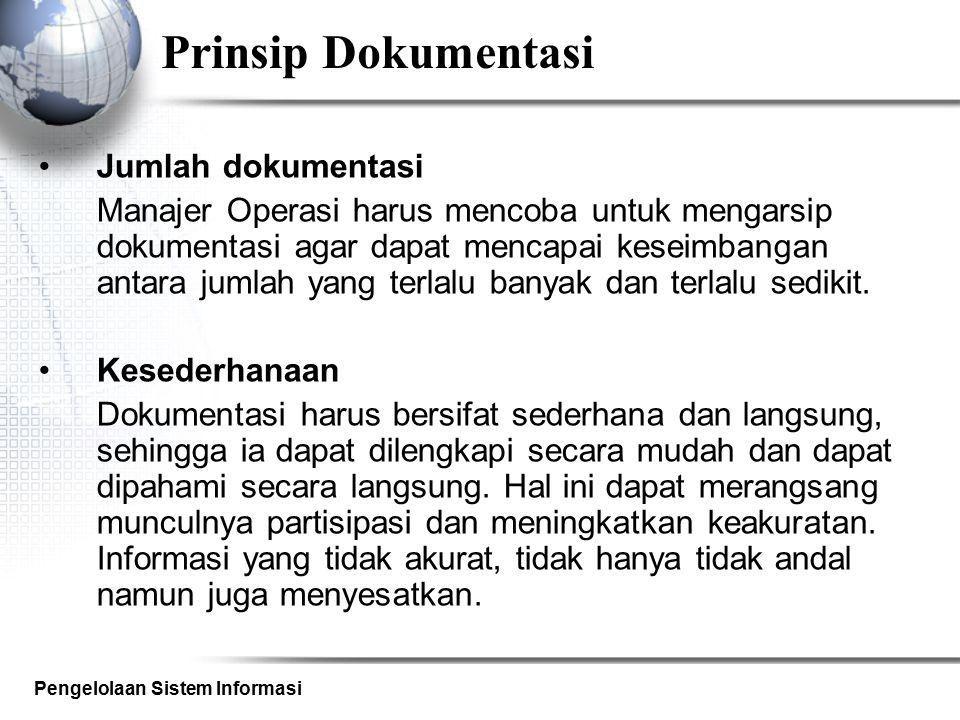 Prinsip Dokumentasi Jumlah dokumentasi
