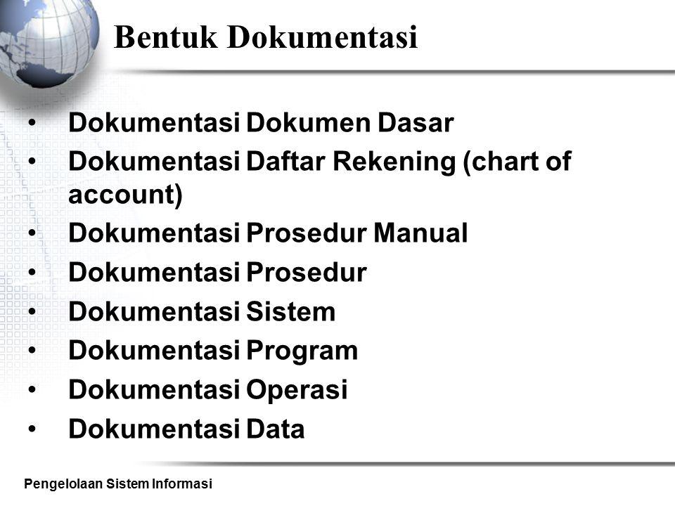 Bentuk Dokumentasi Dokumentasi Dokumen Dasar