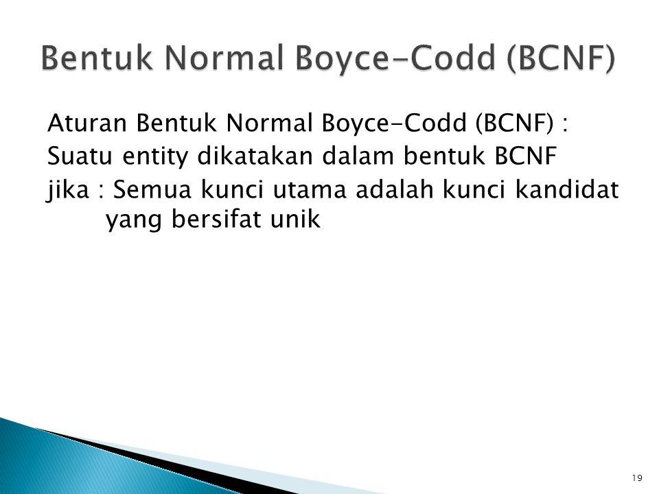 Bentuk Normal Boyce-Codd (BCNF)