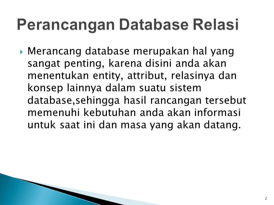 Perancangan Database Relasi