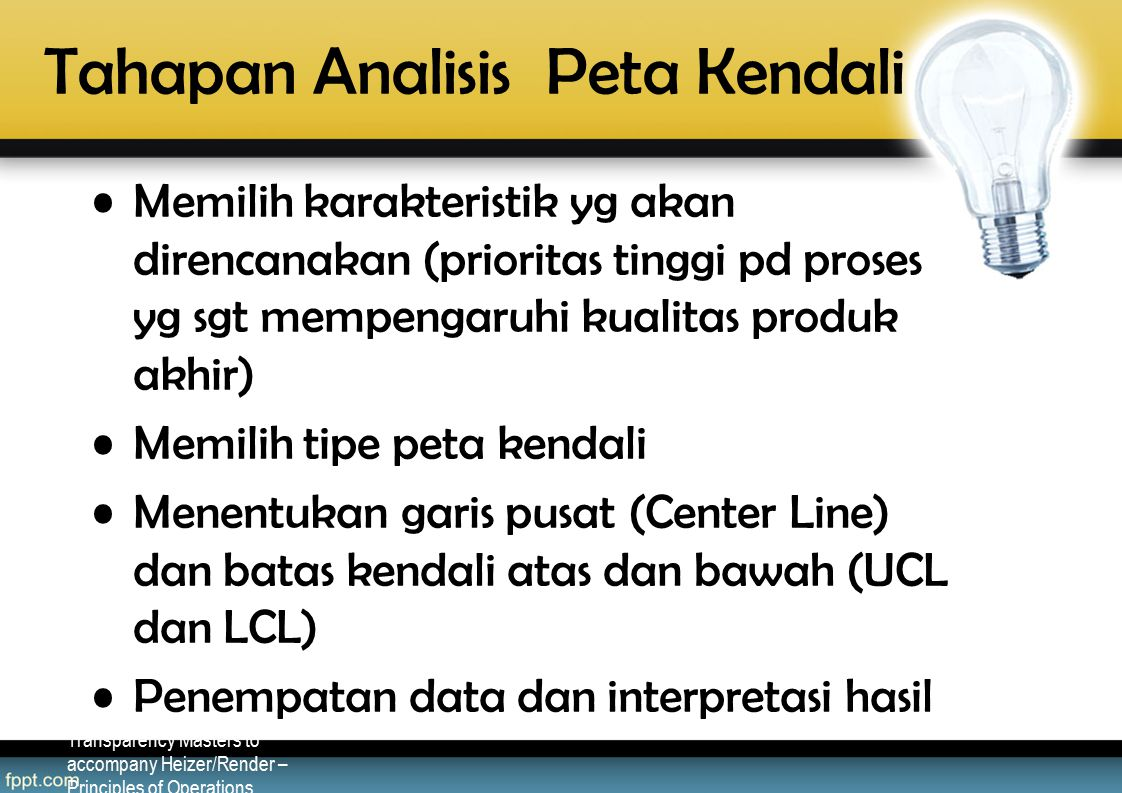 Tahapan Analisis Peta Kendali