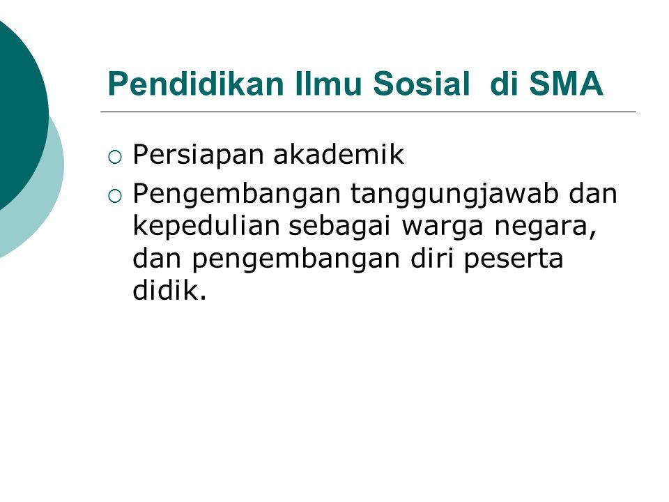 Pendidikan Ilmu Sosial di SMA