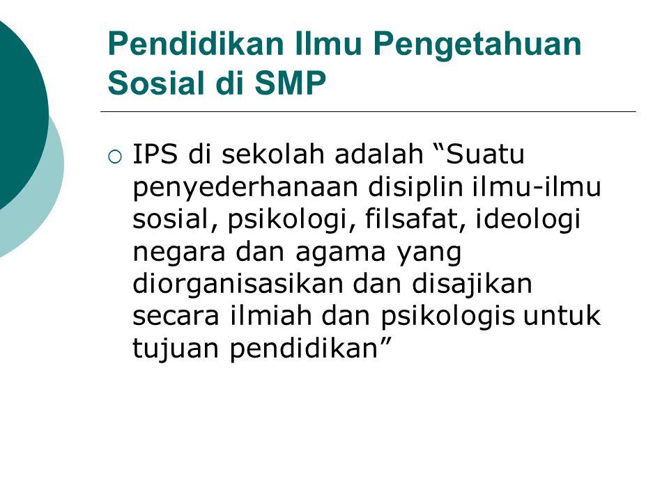 Pendidikan Ilmu Pengetahuan Sosial di SMP