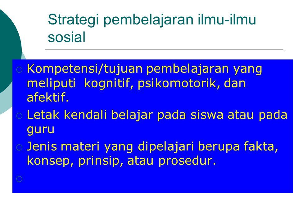 Strategi pembelajaran ilmu-ilmu sosial