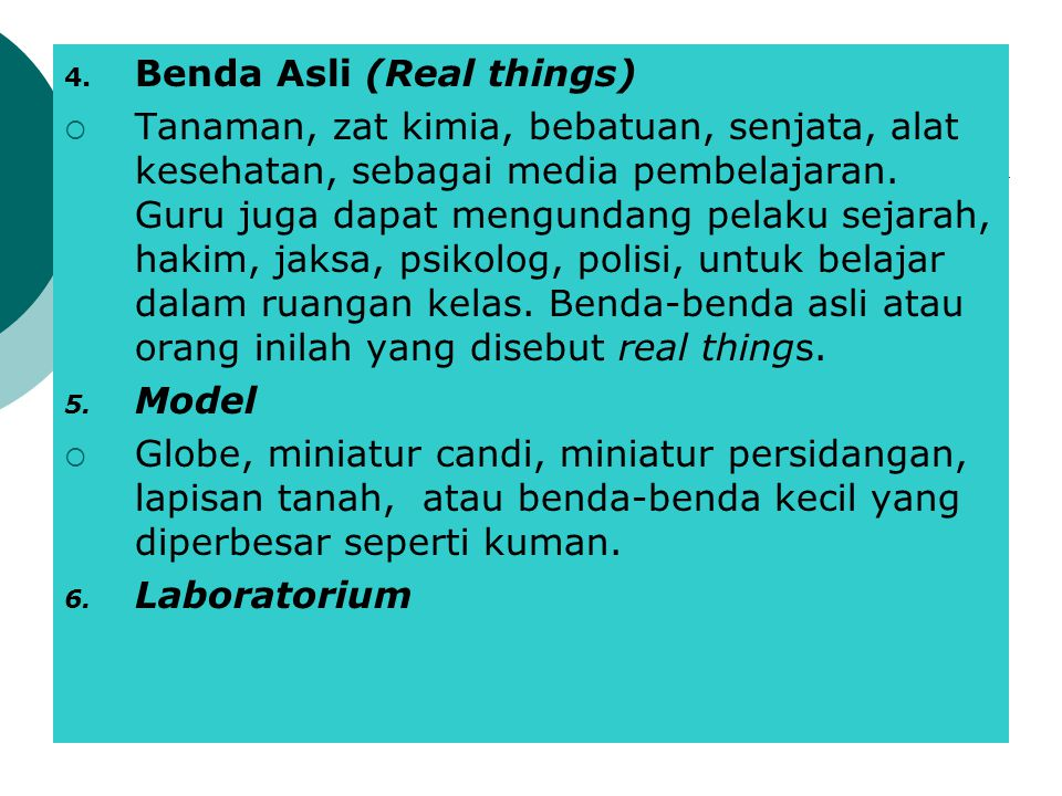 Benda Asli (Real things)