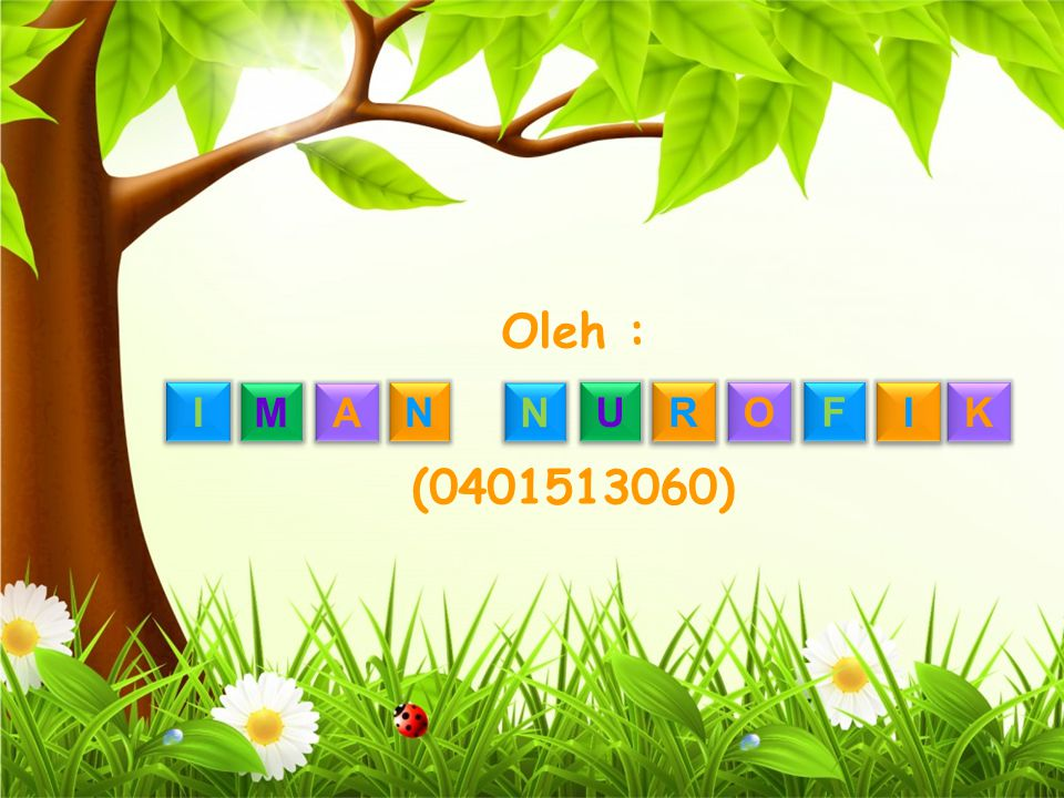 Oleh : I M A N N U R O F I K (0401513060)