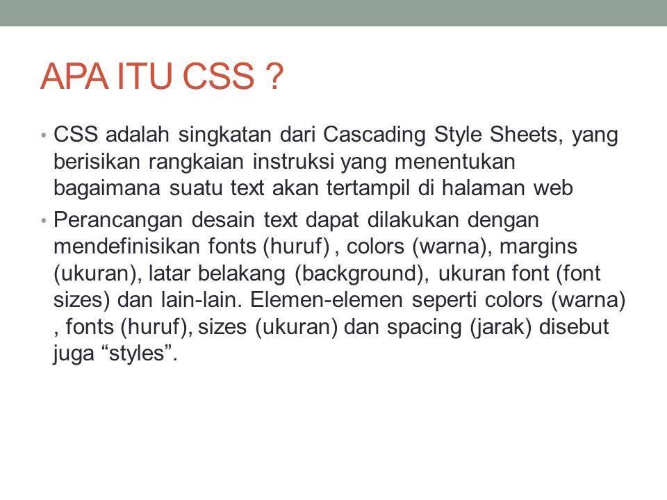 APA ITU CSS