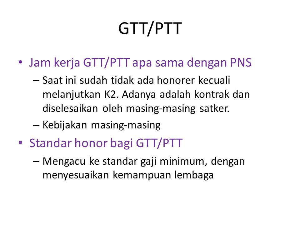 GTT/PTT Jam kerja GTT/PTT apa sama dengan PNS