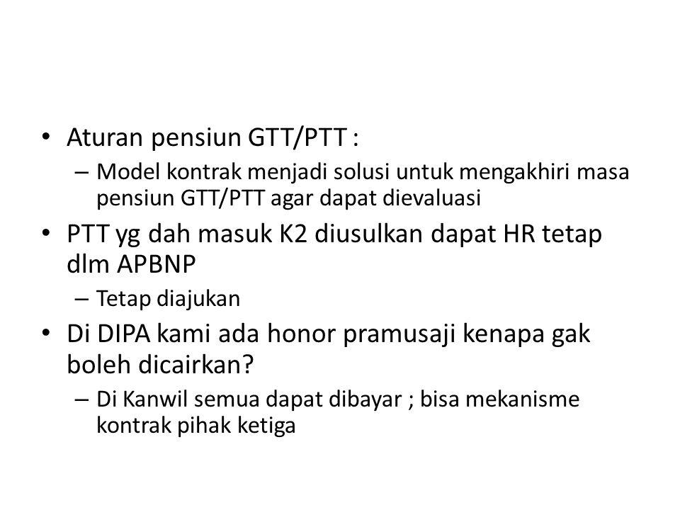 Aturan pensiun GTT/PTT :