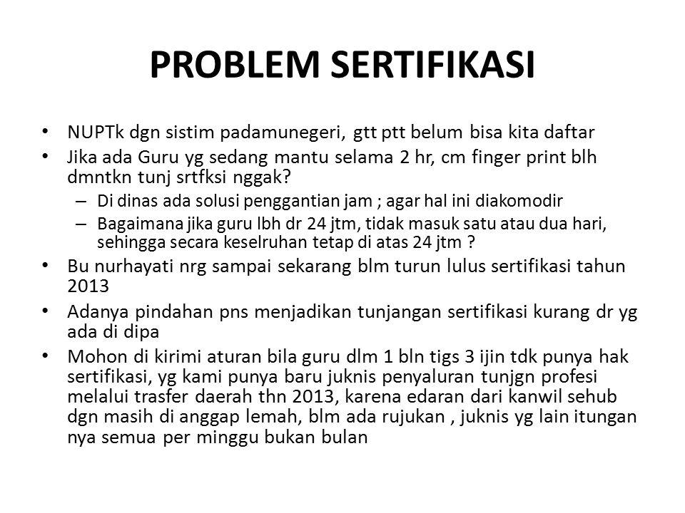 PROBLEM SERTIFIKASI NUPTk dgn sistim padamunegeri, gtt ptt belum bisa kita daftar.