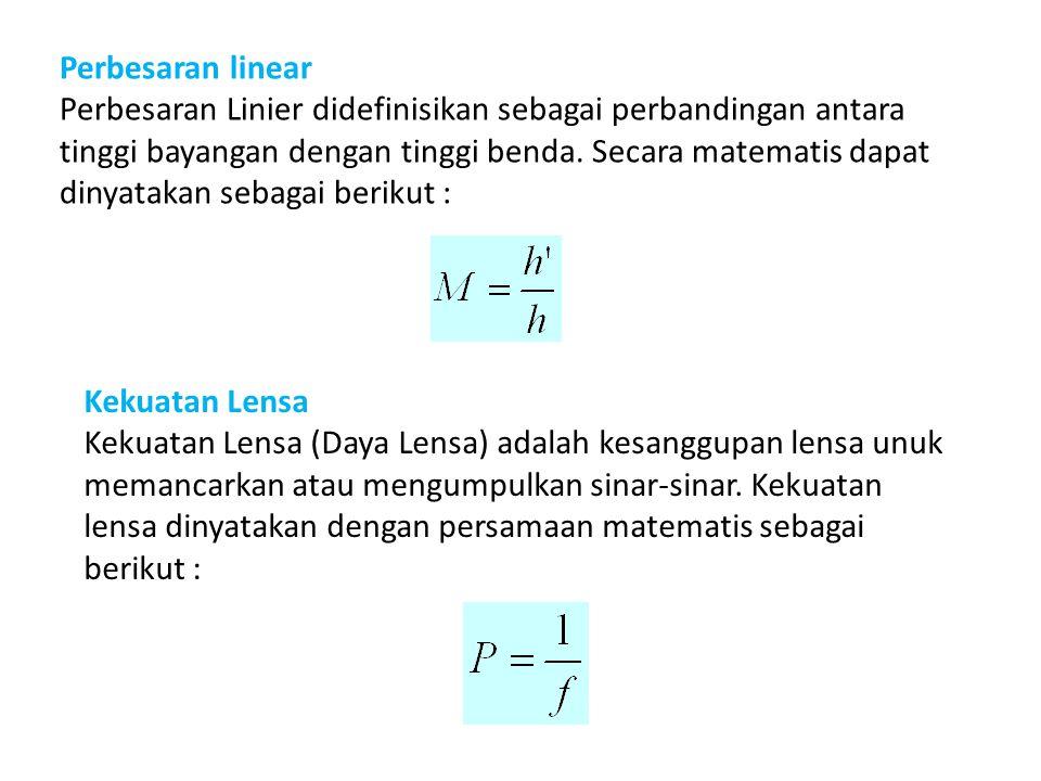 Perbesaran linear