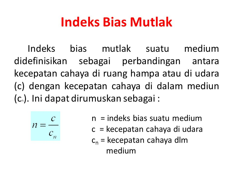 Indeks Bias Mutlak