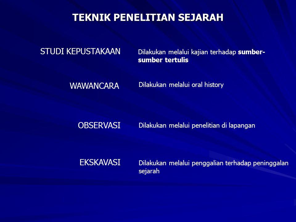 TEKNIK PENELITIAN SEJARAH