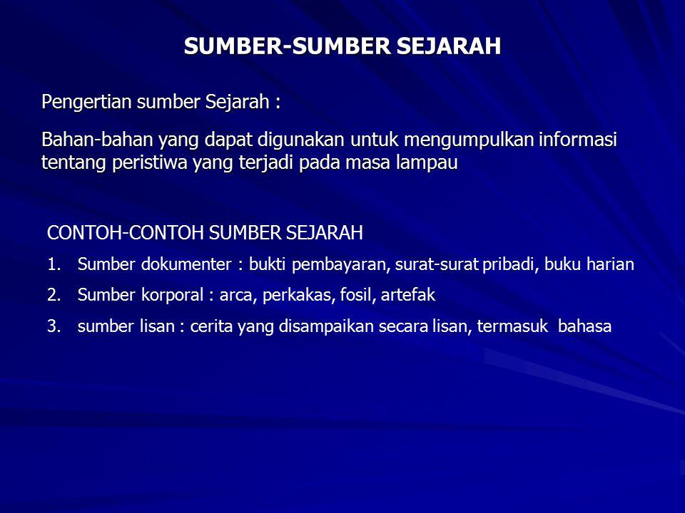 SUMBER-SUMBER SEJARAH