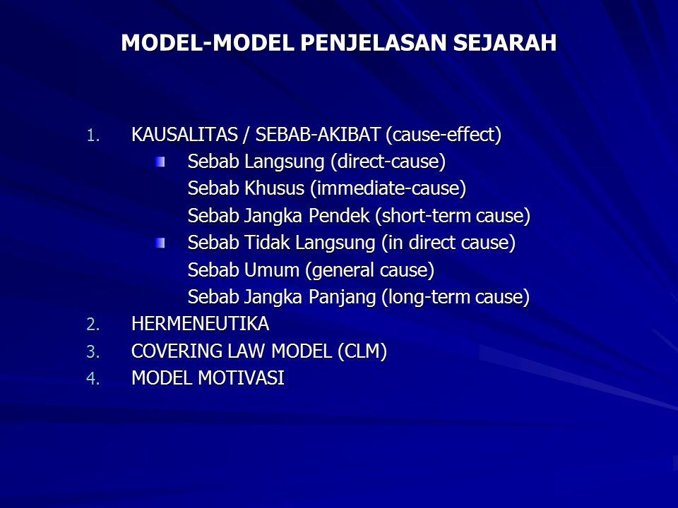 MODEL-MODEL PENJELASAN SEJARAH