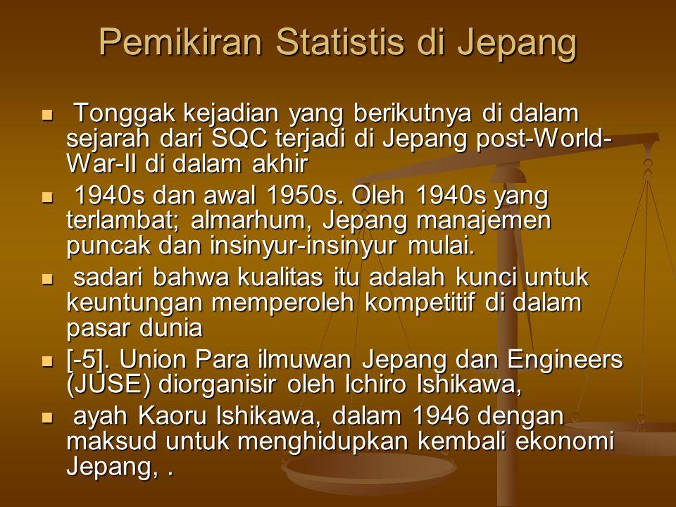 Pemikiran Statistis di Jepang