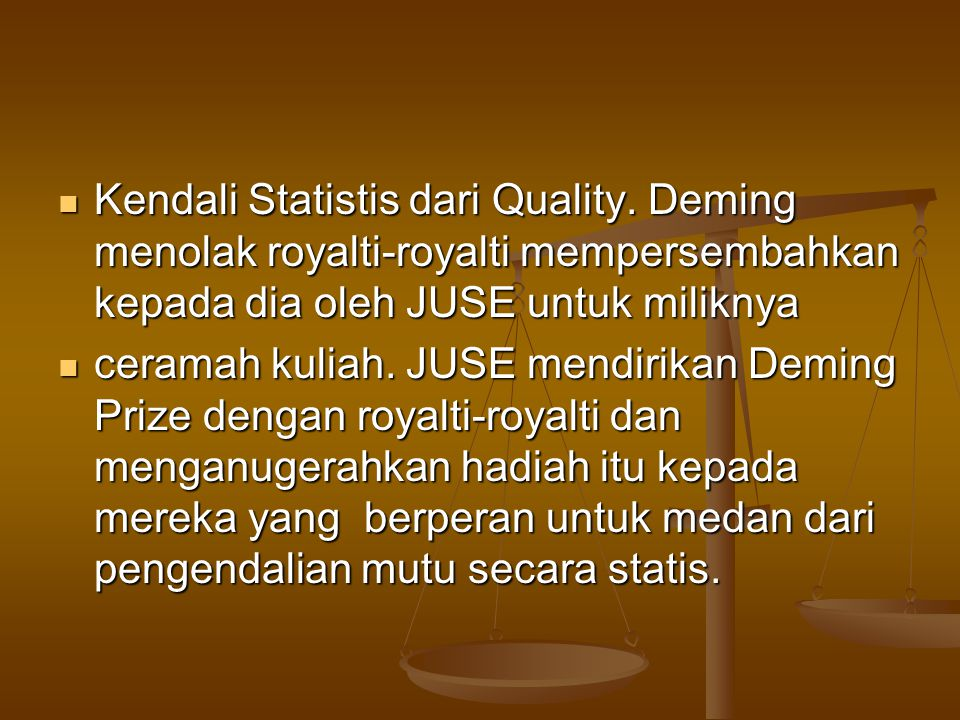 Kendali Statistis dari Quality