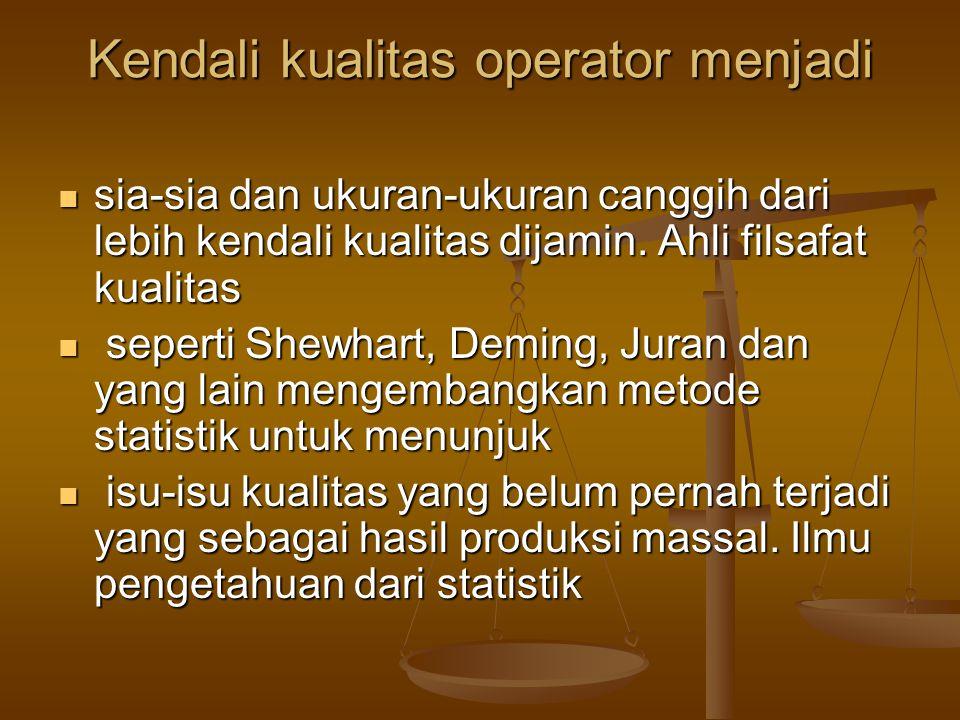 Kendali kualitas operator menjadi
