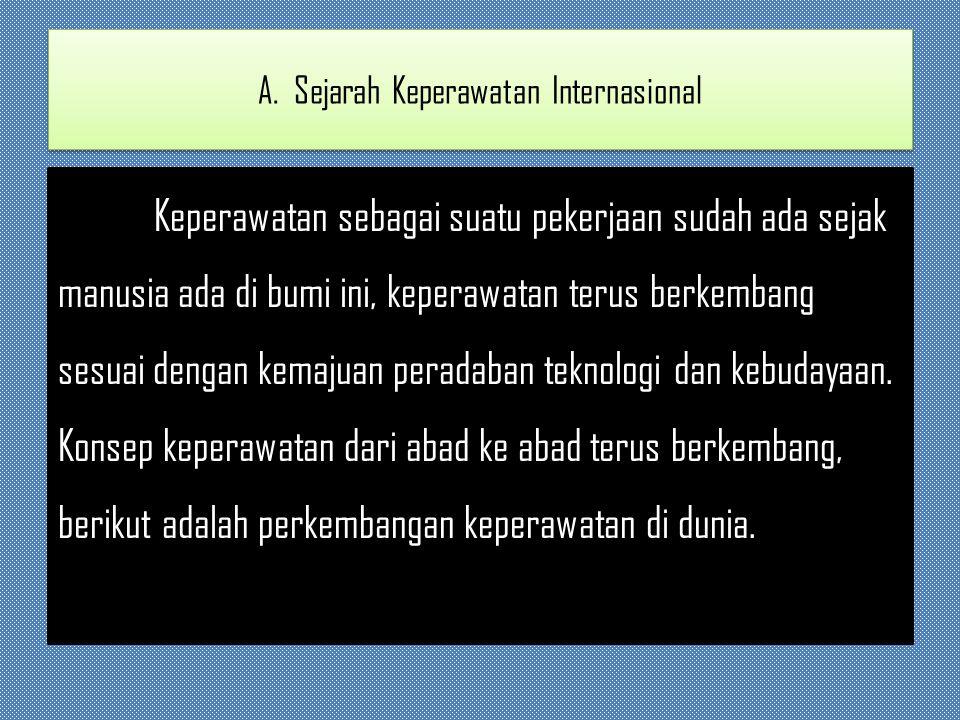A. Sejarah Keperawatan Internasional