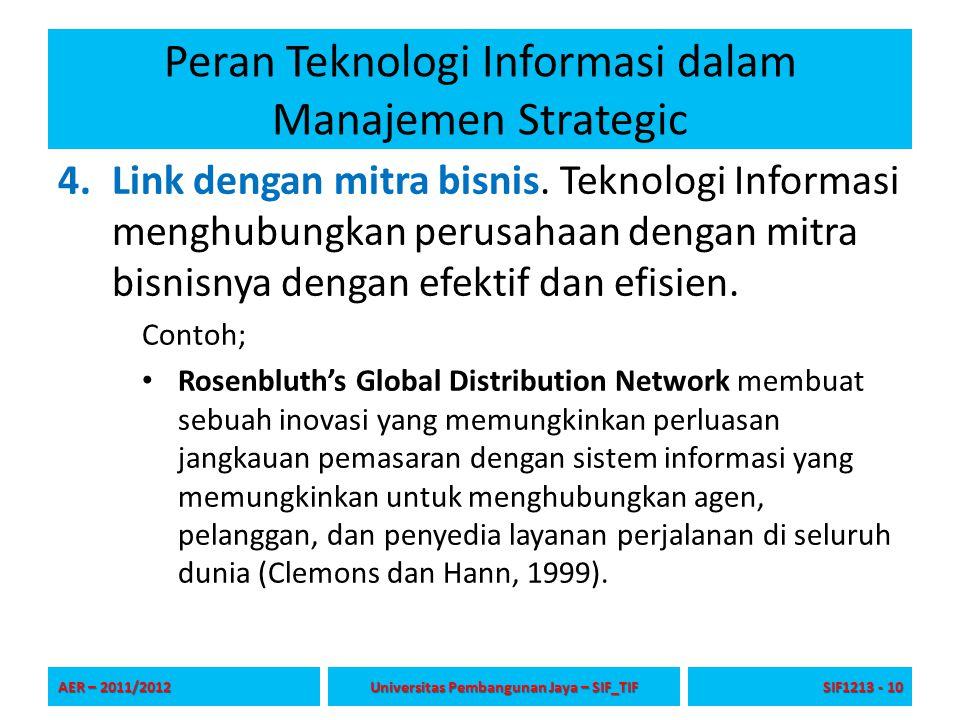 Peran Teknologi Informasi dalam Manajemen Strategic