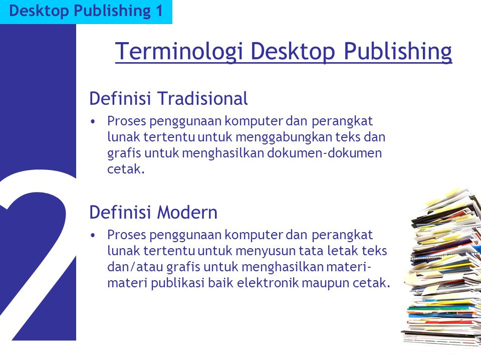 Terminologi Desktop Publishing