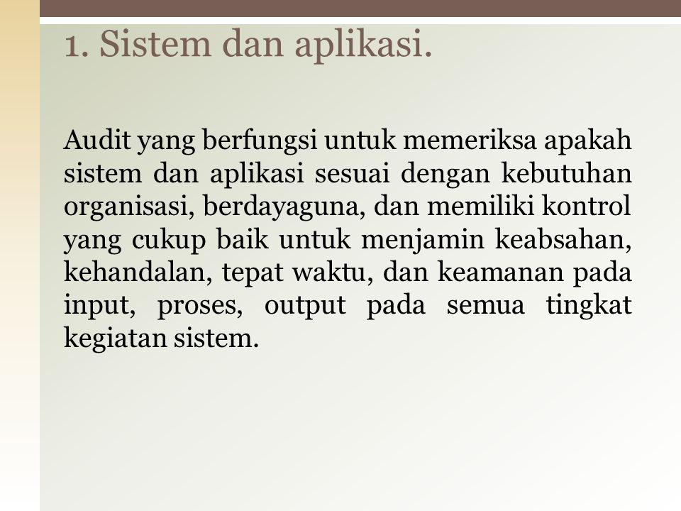 1. Sistem dan aplikasi.