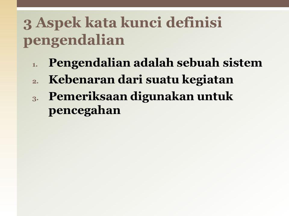 3 Aspek kata kunci definisi pengendalian