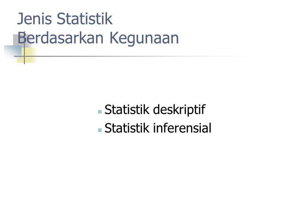 Jenis Statistik Berdasarkan Kegunaan