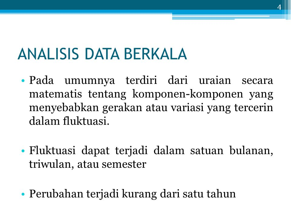 ANALISIS DATA BERKALA