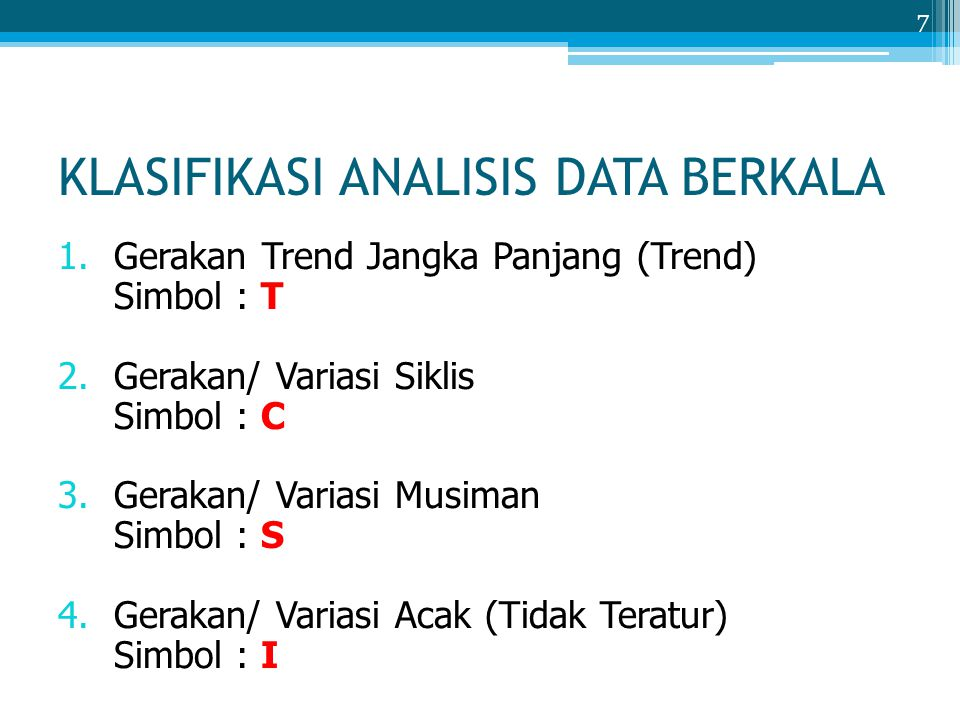 KLASIFIKASI ANALISIS DATA BERKALA