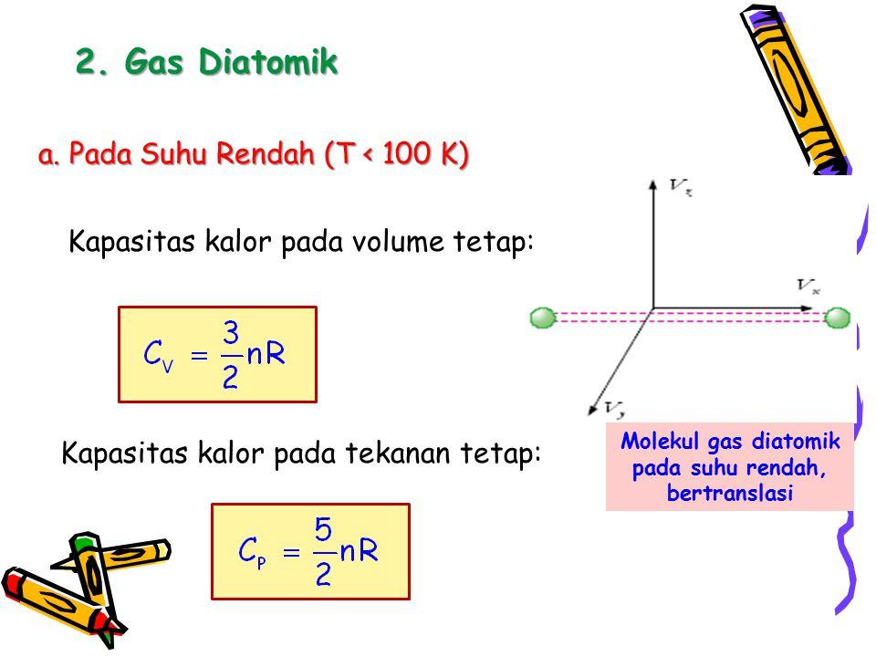 Molekul gas diatomik pada suhu rendah, bertranslasi