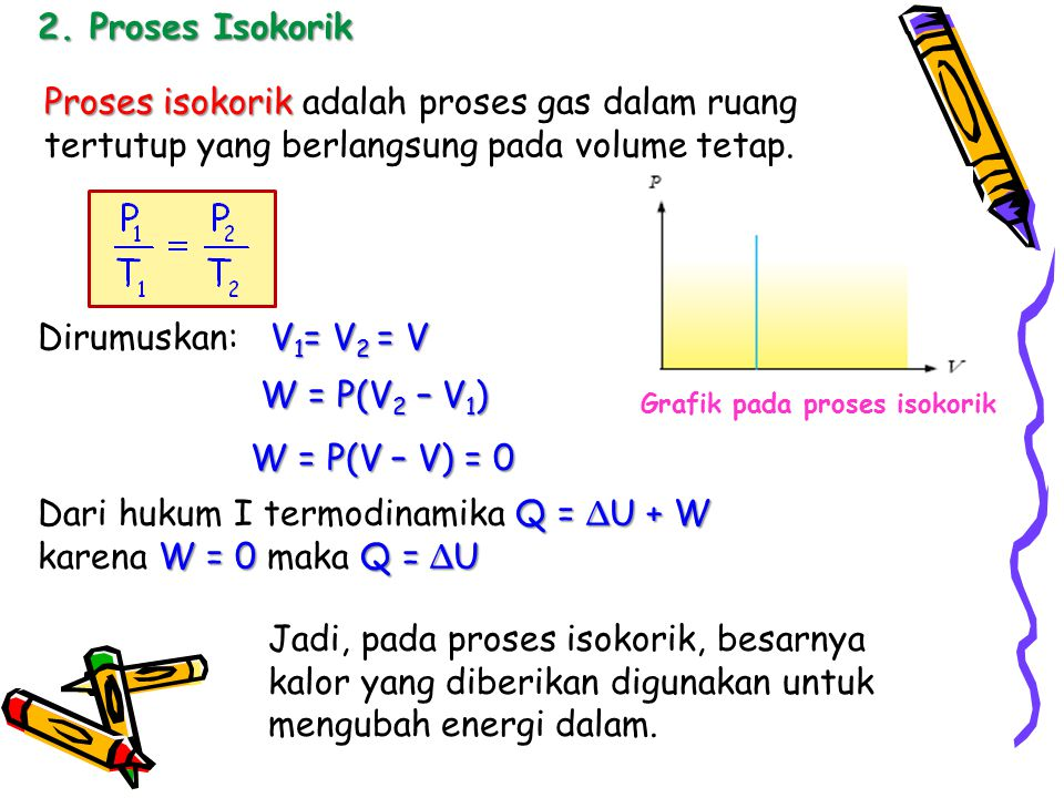 Berkelas ppt download dari hukum i termodinamika q u w karena w 0 maka q ccuart Images