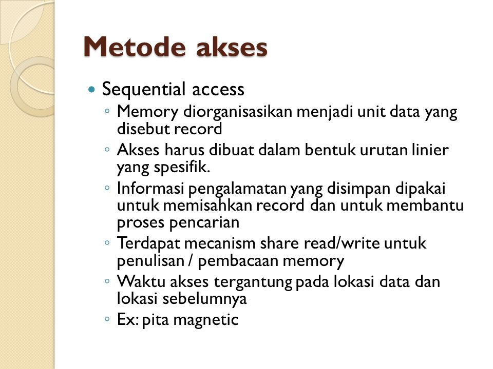 Metode akses Sequential access