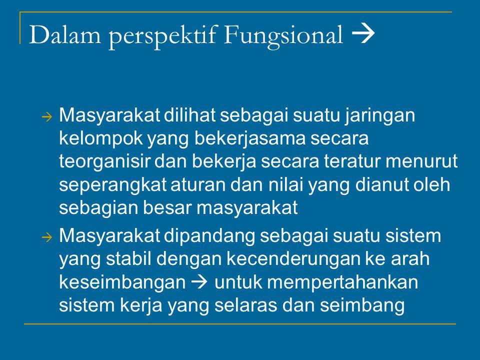 Dalam perspektif Fungsional 
