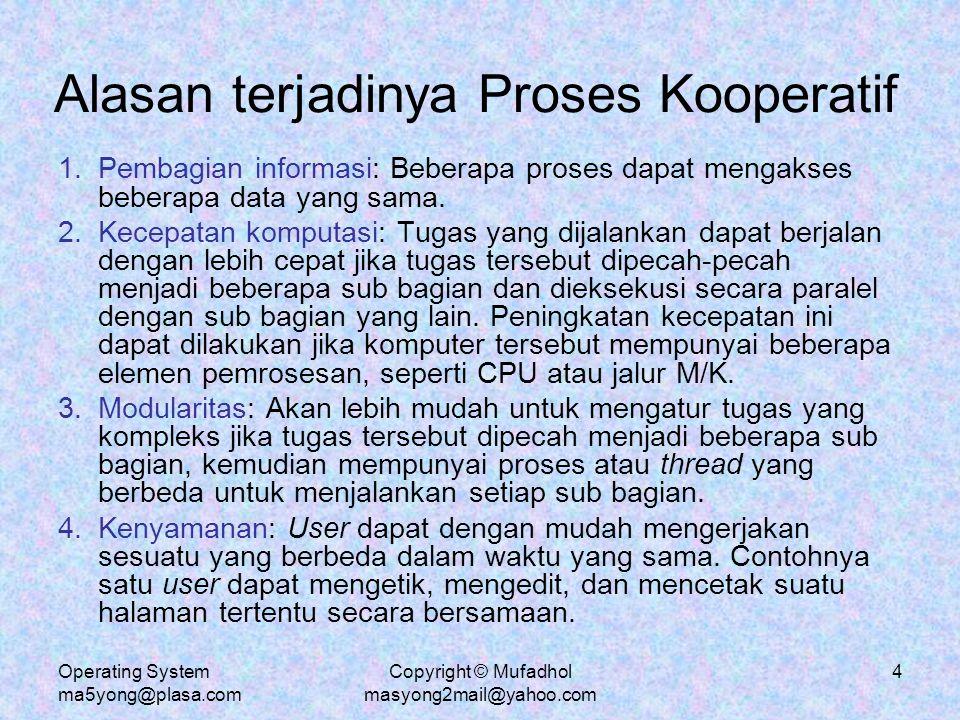 Alasan terjadinya Proses Kooperatif