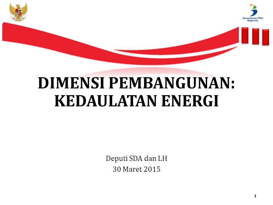 DIMENSI PEMBANGUNAN: KEDAULATAN ENERGI