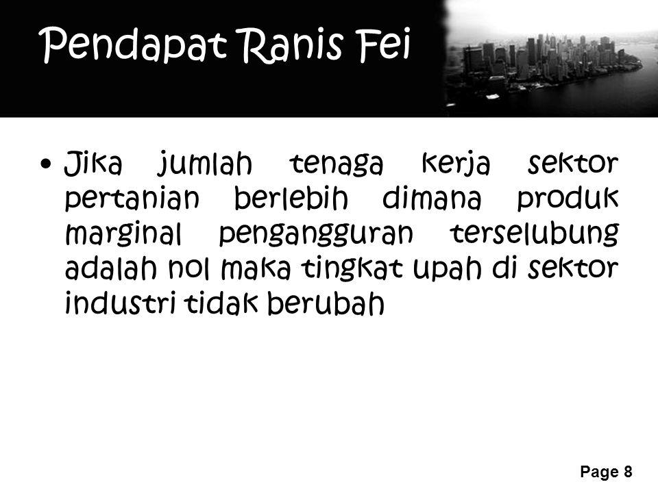 Pendapat Ranis Fei