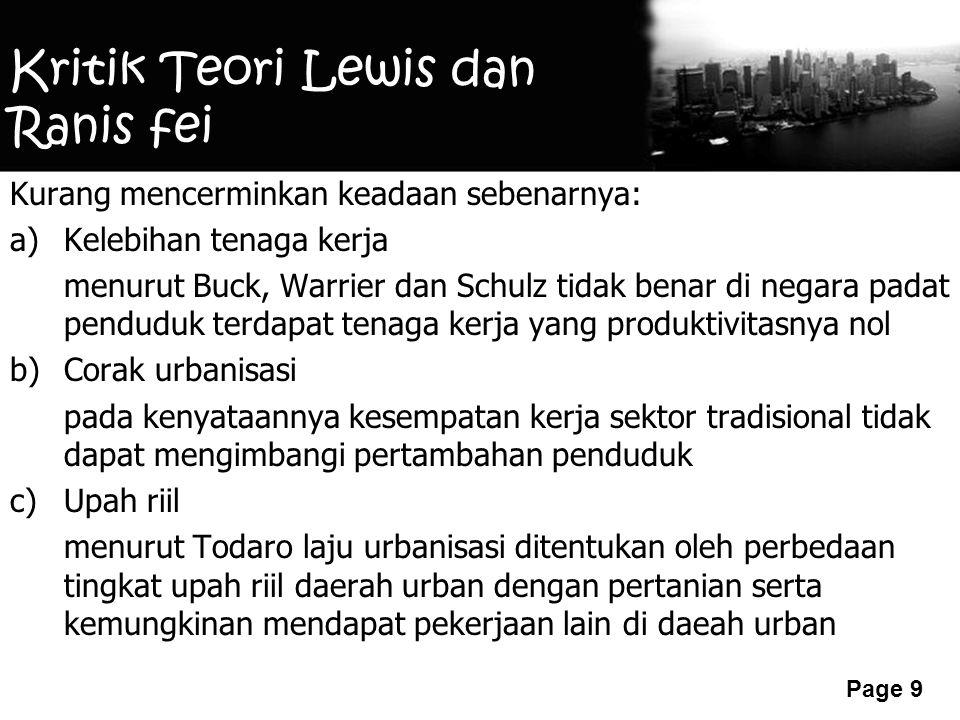 Kritik Teori Lewis dan Ranis fei
