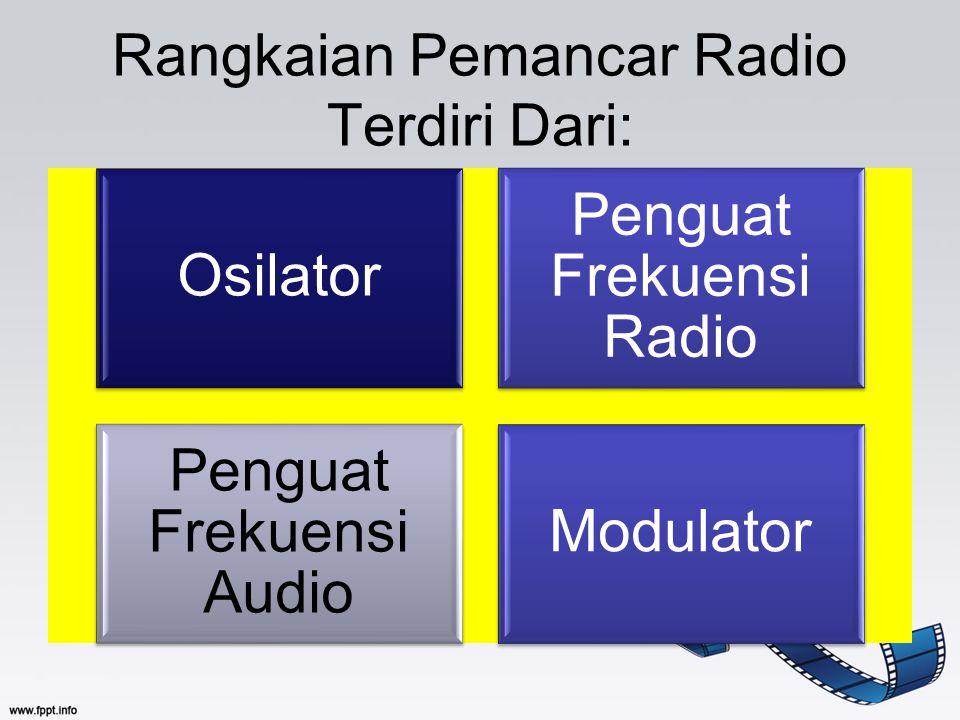 Rangkaian Pemancar Radio Terdiri Dari: