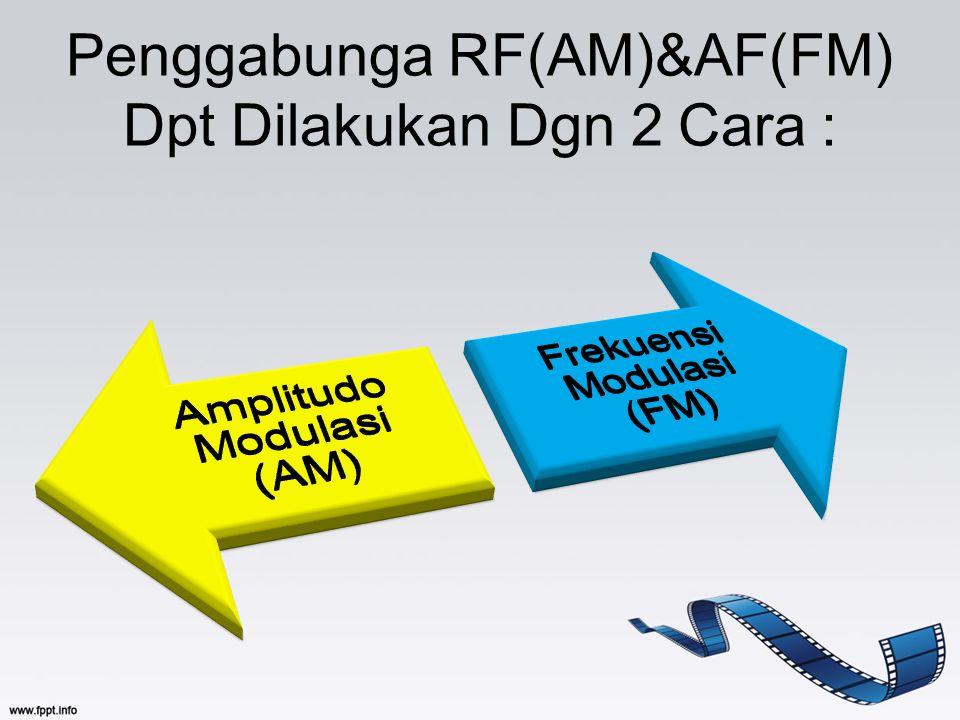 Penggabunga RF(AM)&AF(FM) Dpt Dilakukan Dgn 2 Cara :