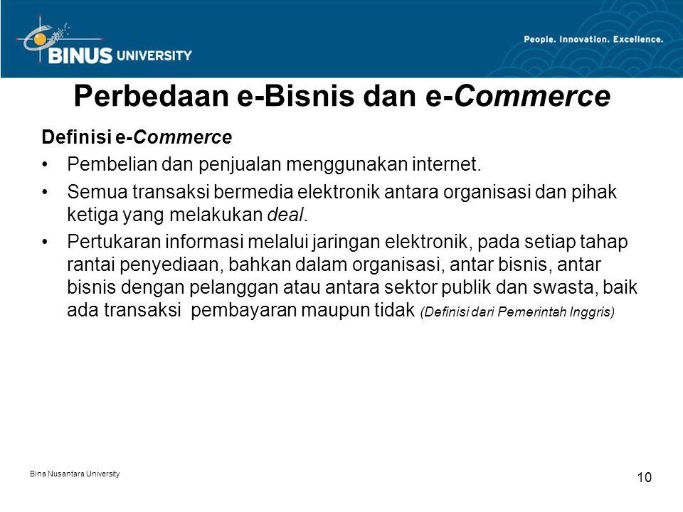Perbedaan e-Bisnis dan e-Commerce