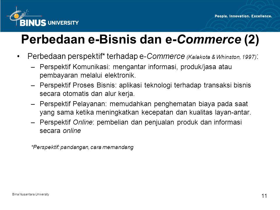 Perbedaan e-Bisnis dan e-Commerce (2)