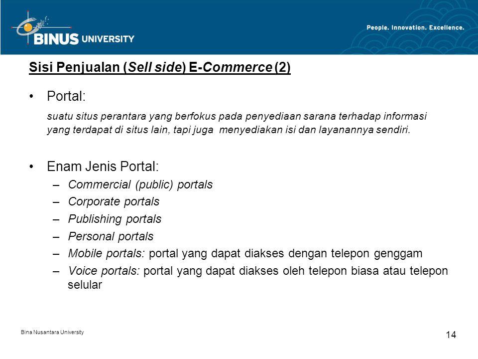 Sisi Penjualan (Sell side) E-Commerce (2)
