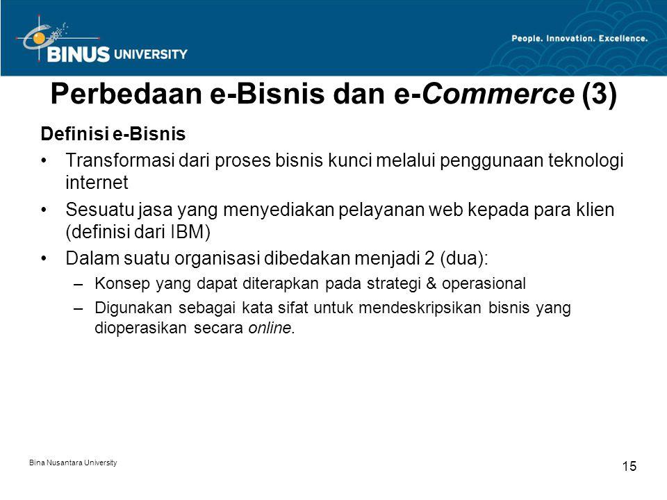 Perbedaan e-Bisnis dan e-Commerce (3)
