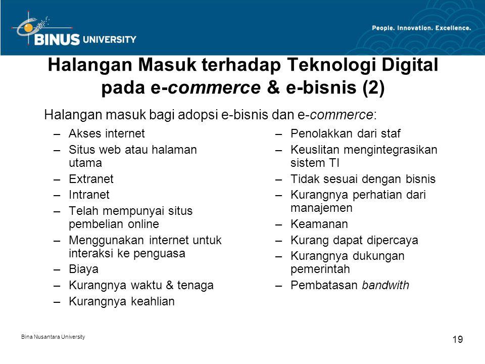 Halangan Masuk terhadap Teknologi Digital pada e-commerce & e-bisnis (2)